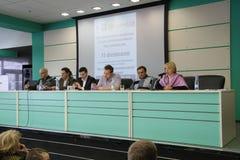 Conférence sur l'ensemble d'observateurs photos stock