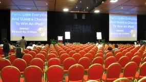 Conférence sur le mercatique global d'Internet, temps de rupture Photos libres de droits