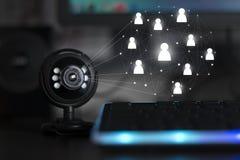 Conférence téléphonique webinar de caméra web d'Usb image stock