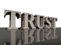 Confíe en la integridad financiera del símbolo del asunto del honor stock de ilustración