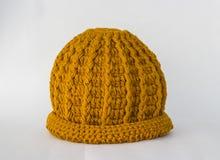 Confecção de malhas dos chapéus feito a mão Fotografia de Stock Royalty Free