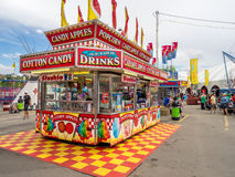 Confection booth at the the Calgary Stampede. CALGARY, CANADA - JULY 9: Confection booth at the the Calgary Stampede midway on July 9, 2016 in Calgary, Alberta Royalty Free Stock Photo