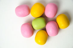 Confection close up. In different colours on white background Stock Photography