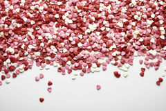 Confection with heart-shaped Stock Photography