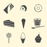 Confection icons. Set of isolated icons on a theme confection stock illustration