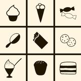 Confection Icons Royalty Free Stock Photography