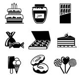 Confection icons Stock Image