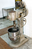 Confection making machine or mixer. Picture of a heavy duty machine used for making and mixing molasses for candy making royalty free stock photo