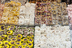 Confectionary at a market stall Stock Photography