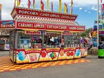 Confectionbås på den Calgary rusningen Royaltyfri Foto