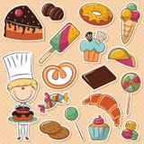 confectioner royaltyfri illustrationer