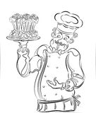 Pastry cook Stock Images