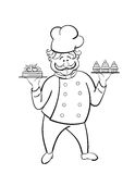 Confectioner. vector.  isolated Stock Photography