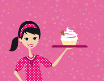 Confectioner woman Stock Photo