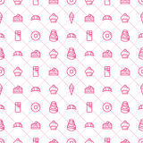 Confectionery and Bakery Seamless Pattern - Stock Vector. Royalty Free Stock Photo