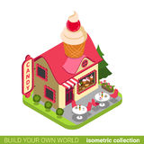 Confectionery candy shop cupcake shape building ca Royalty Free Stock Photography