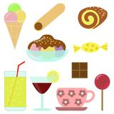 Confectionery - cliparts royalty free stock image