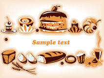 Confectionery. Collection. Various confectionery products. Collection. Isolated Objects royalty free illustration