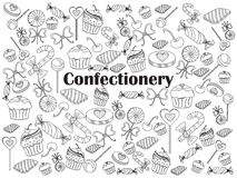 Confectionery colorless set vector illustration Stock Photo