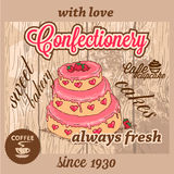 Confectionery dessert menu Royalty Free Stock Photo