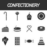 Confectionery icon set Royalty Free Stock Photo