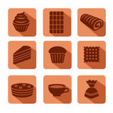 Confectionery icon set Royalty Free Stock Photos