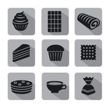 Confectionery icon set Stock Photos