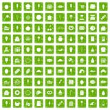 100 confectionery icons set grunge green. 100 confectionery icons set in grunge style green color isolated on white background vector illustration Vector Illustration