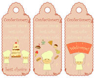 Confectionery labels Stock Photography