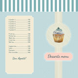 Confectionery menu template with watercolor Royalty Free Stock Image