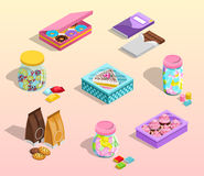 Confectionery Packaging Set Royalty Free Stock Images