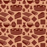 Confectionery seamless pattern Stock Images
