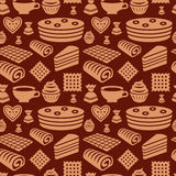 Confectionery seamless pattern Stock Image