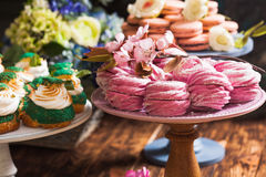 Confectionery showcase close up Royalty Free Stock Image