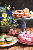 Confectionery showcase close up Royalty Free Stock Photography