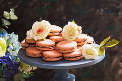 Confectionery showcase close up Stock Photos