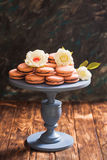 Confectionery showcase close up Royalty Free Stock Images