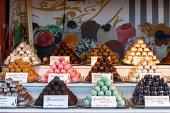 Confectionery Stall at Winter Wonderland Stock Images