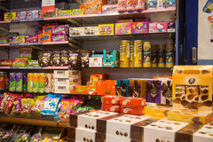 Confectionery store. Candies, chocolate and sweets in confectionery store Stock Photography