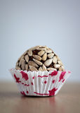 Confectionery. Traditional Indian delicacies with seeds Royalty Free Stock Photo
