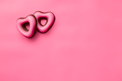 Confectionery valentine hearts Royalty Free Stock Photo