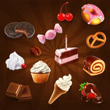 Confectionery vector icons Stock Photography