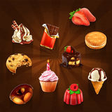 Confectionery vector icons. Set with confectionery vector icons royalty free illustration