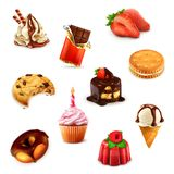 Confectionery, vector set Royalty Free Stock Photography