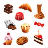 Confectionery, vector set. On white background royalty free illustration