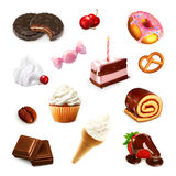 Confectionery, vector set. On white background vector illustration