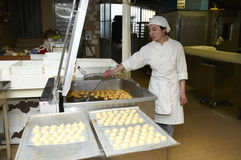 Confectionery working Stock Image
