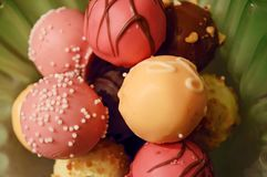 Confections d'amour de chocolat Photo stock