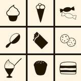 Confectionsymboler stock illustrationer