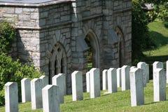 Confederado del cementerio de la madera de roble muerto de Gettysburg foto de archivo